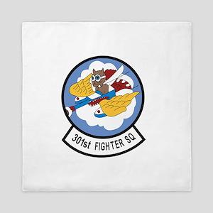 301st Fighter Squadron Queen Duvet