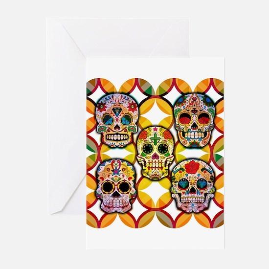 Sugar Skulls Greeting Cards