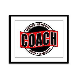 Coach Fundamentals Framed Panel Print