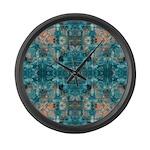 Subaqueous Kaleidoscope Large Wall Clock