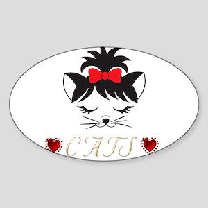I Love Happy Cats Sticker