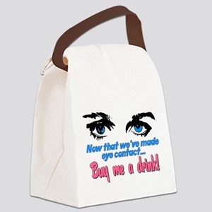 eye contact Canvas Lunch Bag
