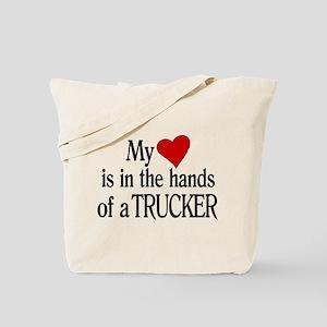 My Heart in the Hands Trucker Tote Bag