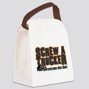 Screw a Trucker Canvas Lunch Bag