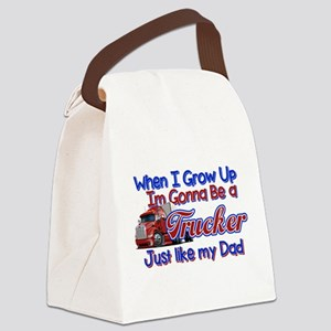 When I Grow Up Trucker Canvas Lunch Bag