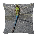 Dragonfly on Pavement Woven Throw Pillow