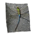 Dragonfly on Pavement Burlap Throw Pillow