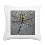 Dragonfly on Pavement Square Canvas Pillow