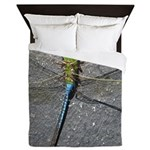 Dragonfly on Pavement Queen Duvet