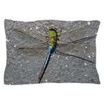 Dragonfly on Pavement Pillow Case