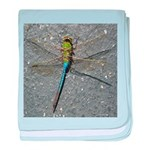 Dragonfly on Pavement baby blanket