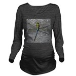 Dragonfly on Pavement Long Sleeve Maternity T-Shir