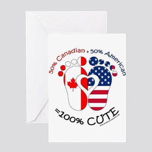 Canadian American Baby Greeting Cards