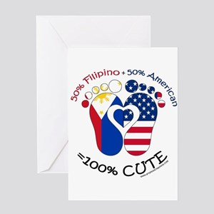 Filipino American Baby Greeting Cards