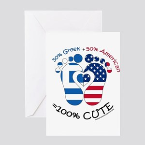 Greek newborn greeting cards cafepress greek american baby greeting cards m4hsunfo