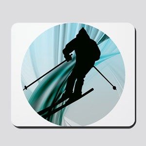 Downhill Skiing on the Icy Slopes Mousepad
