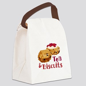 Tea And Biscuits Canvas Lunch Bag