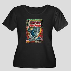 ghost ri Women's Plus Size Scoop Neck Dark T-Shirt