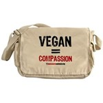 compassion-vegan-3-white Messenger Bag