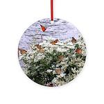 Monarchs on a Babys Breath Rest stop Ornament (Rou