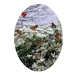 Monarchs on a Babys Breath Rest stop Ornament (Ova