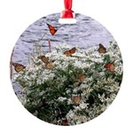 Monarchs on a Babys Breath Rest stop Ornament