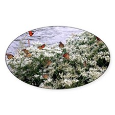 Monarchs on a Babys Breath Rest stop Sticker