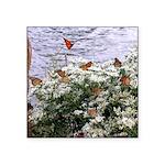 Monarchs on a Babys Breath Rest stop Sticker