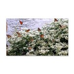 Monarchs on a Babys Breath Rest stop Wall Decal