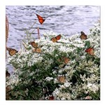 Monarchs on a Babys Breath Rest stop Square Car Ma