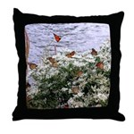 Monarchs on a Babys Breath Rest stop Throw Pillow