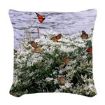 Monarchs on a Babys Breath Rest stop Woven Throw P