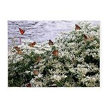 Monarchs on a Babys Breath Rest stop 5'x7'Area Rug
