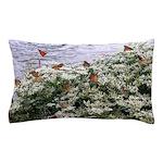 Monarchs on a Babys Breath Rest stop Pillow Case
