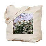 Monarchs on a Babys Breath Rest stop Tote Bag
