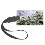 Monarchs on a Babys Breath Rest stop Luggage Tag