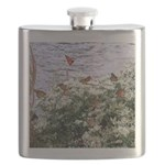 Monarchs on a Babys Breath Rest stop Flask