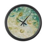 Sand and Surf Abstract Large Wall Clock