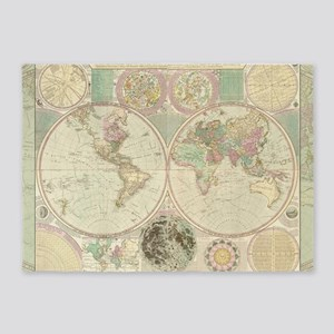 Bowles Antique Map 5'x7'Area Rug