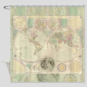 Bowles Antique Map Shower Curtain