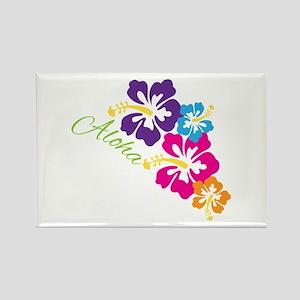 Aloha Flowers Magnets