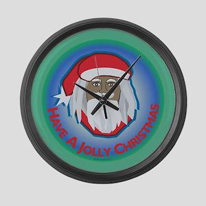 Jolly Santa Large Wall Clock