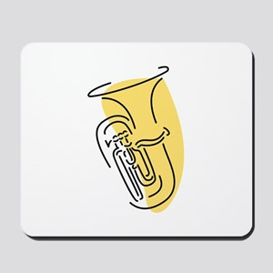 Tuba Mousepad (Gold)