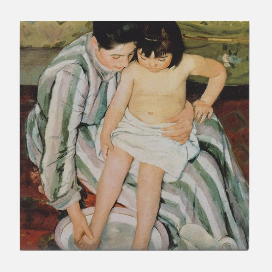 Mary Cassatt Child's Bath Impressionist Tile Coast