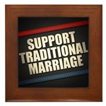 Support Traditional Marriage Framed Tile