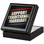 Support Traditional Marriage Keepsake Box