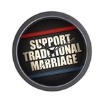 Support Traditional Marriage Wall Clock
