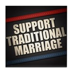 Support Traditional Marriage Tile Coaster