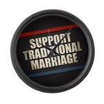 Support Traditional Marriage Large Wall Clock