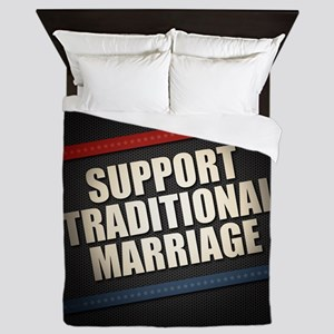 Support Traditional Marriage Queen Duvet